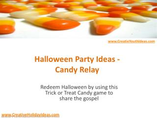 Halloween Party Ideas - Candy Relay