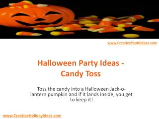 Halloween Party Ideas - Candy Toss