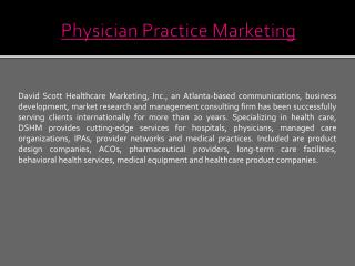 Physician Practice Marketing