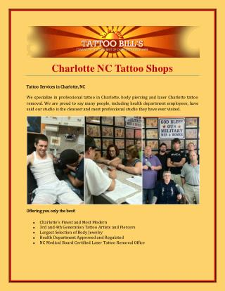 Charlotte NC Tattoo Shops