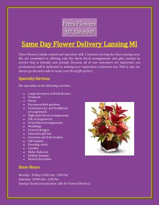 Same Day Flower Delivery Lansing MI