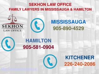Divorce and Family Law in Mississauga