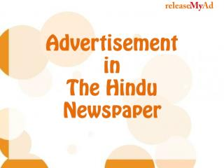 Easy Ad Booking in Hindu for classifieds, matrimonials, etc.