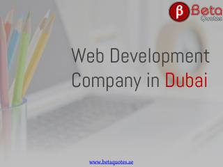 Web Development Companies UAE