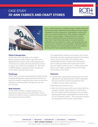 Case Study at Jo-Ann Fabrics and Craft Stores