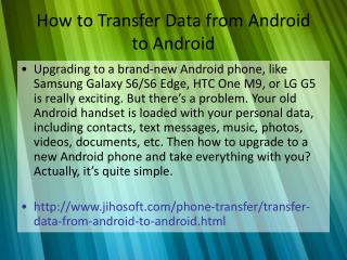 How to Transfer Data from Android to Android