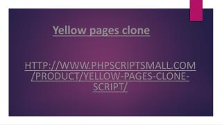 Yellow Pages Clone