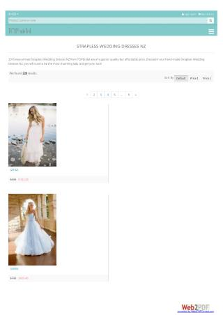Strapless Wedding Dresses NZ