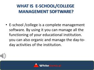 Whitevertical.com| What is E-School/College software
