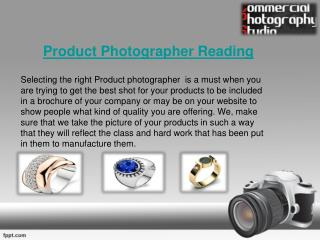 Photo Editing Service & Product Photographer Reading