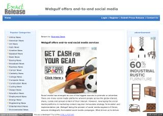 Webgulf offers end-to-end social media services