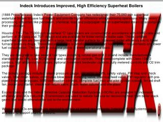 Indeck Introduces Improved, High Efficiency Superheat Boilers