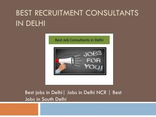 Fresher & Experienced Jobs | Best Recruitment Consultants