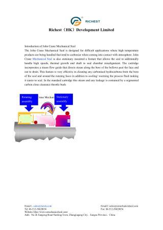 Introduction of John Crane Mechanical Seal