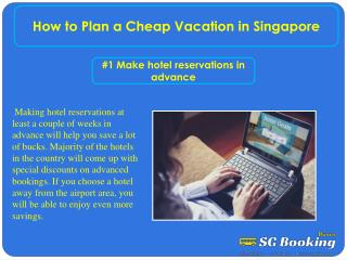 How to Plan a Cheap Vacation in Singapore