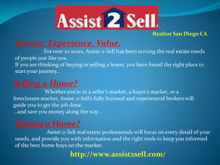 Real Estate Company, Agent, Broker and Realtor San Diego CA