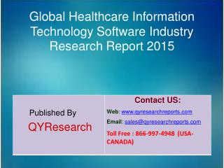 Global Healthcare Information Technology Software Market 2015 Industry Growth, Trends, Analysis, Research and Share