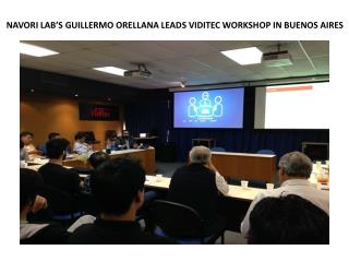 NAVORI Digital Signage Software LAB'S GUILLERMO ORELLANA LEADS VIDITEC WORKSHOP IN BUENOS AIRES