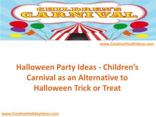 Halloween Party Ideas - Children's Carnival as an Alternative to Halloween Trick or Treat