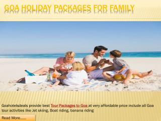 Goa Holiday Packages for Family