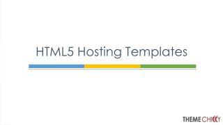 HTML5 Templates for Web Hosting Providers