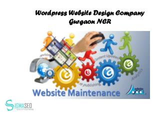 Wordpress Website Design Company Gurgaon NCR