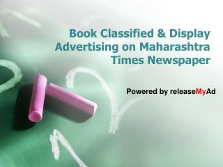 Book your Maharashtra Times Newspaper Classified Ads Instantly Online