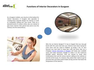 Best Interior Design, Interior Decorators In Gurgaon