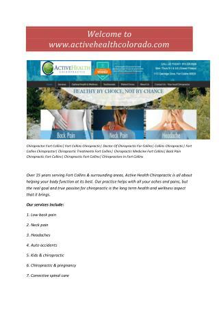 Chiropractor Fort Collins