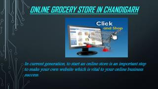 Open an Online grocery store Chandigarh