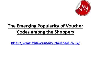 The Emerging Popularity Of Voucher Codes Among The Shoppers