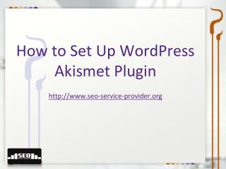 How to Setup Wordpress Akismet Plugin
