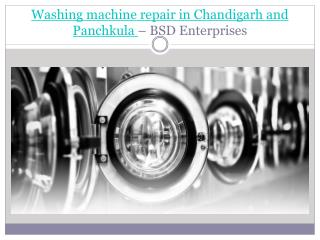 Washing Machine Repair in Chandigarh - Bsd Enterprises