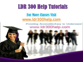 LDR 300 Help Tutorials/ldr300helpdotcom