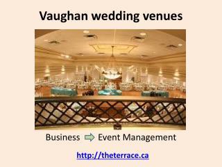 Vaughan wedding venue banquet halls