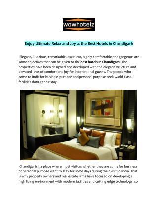 Best Hotels in Chandigarh