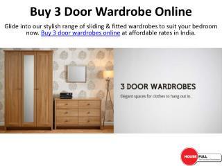 Buy 3 Door Wardrobe Online in India at Housefull.co.in