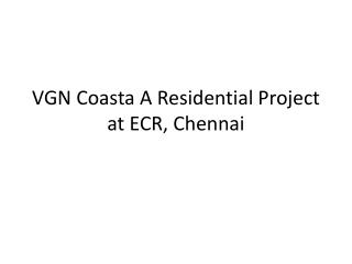 Apartments in VGN Coasta at ECR