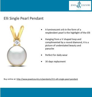 Shop for Elli Single Pearl Pendant