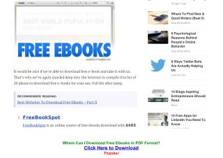 Where Can I Download Books in PDF Format?