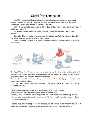 Serial over Ethernet