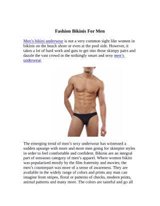 Fashion Bikinis For Men