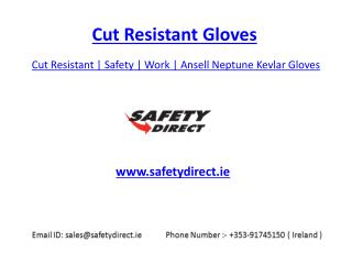 1.Cut Resistant | Safety | Work | Ansell Neptune Kevlar Gloves