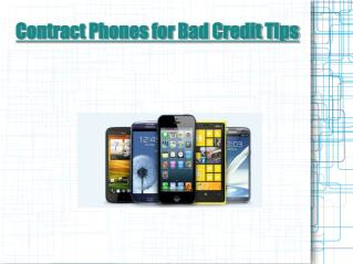 Contract Phones for Bad Credit Tips