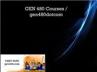 GEN 480 Courses / gen480dotcom