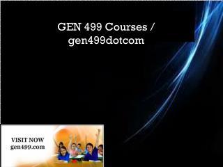 GEN 499 Courses / gen499dotcom