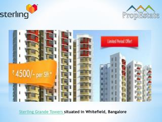 Sterling Grande Towers | Residential Project | Price | Bangalore | Whitefield