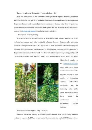 Factors In Affecting Horticulture Products Industry (2)