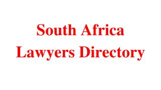 South Africa Lawyers Directory