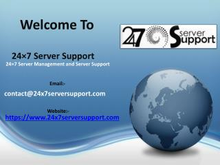 24×7 server management and server support
